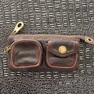 Marc by Marc Jacobs brown burgundy leather wallet
